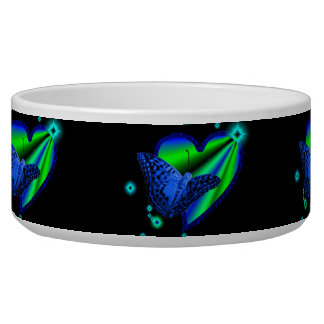 Butterfly on Rainbow heart and stars Bowl