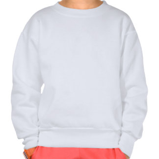Butterfly on rainbow Lily and Heart Pull Over Sweatshirt