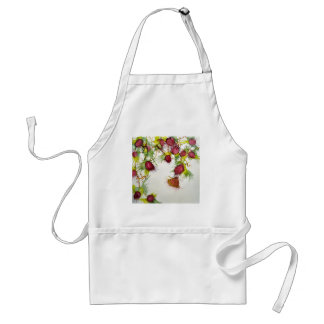 Butterfly on Red Berries Adult Apron