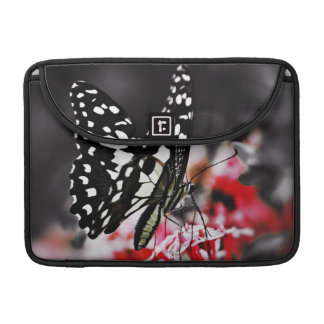 Butterfly on Red Flower Sleeve For MacBooks