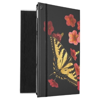 Butterfly on Red Flowers iPad Pro Case