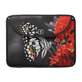 Butterfly on Red Flowers Sleeve For MacBook Pro