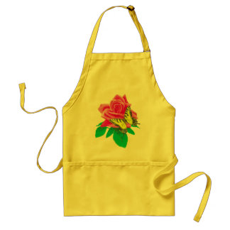 Butterfly on Rose 2 Adult Apron