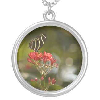 Butterfly on Royal Poinciana Necklace