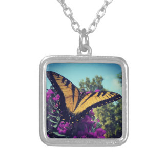Butterfly on Sage Necklace Design