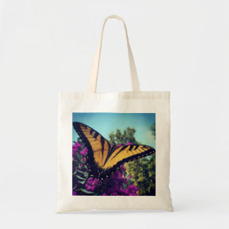 Butterfly on Sage Tote Bag Design
