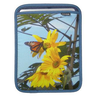 Butterfly on Sunflowers iPad Sleeve