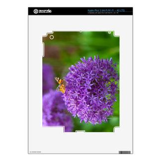 Butterfly on the Allium flower iPad 3 Decal