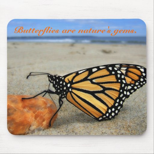 Butterfly on the beach  by TDGallery Mouse Pad
