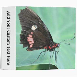 Butterfly on the Edge of a Leaf. 3 Ring Binder