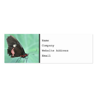 Butterfly on the Edge of a Leaf. Double-Sided Mini Business Cards (Pack Of 20)