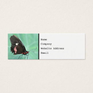 Butterfly on the Edge of a Leaf. Mini Business Card