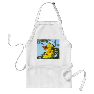 Butterfly on the sunflower apron
