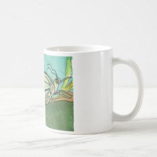 butterfly on Turquoise Coffee Mug
