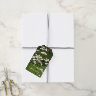 Butterfly on White Flowers Gift Tags