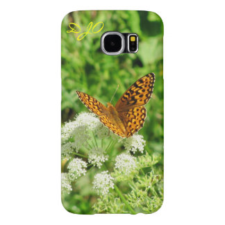 Butterfly On White Flowers Samsung Galaxy S6 Case