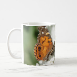 Butterfly on White Lilac Mug