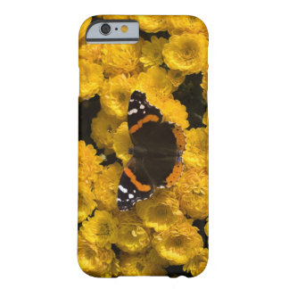 Butterfly on yellow asters barely there iPhone 6 case