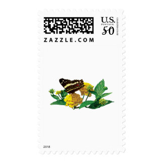 Butterfly on Yellow Lantana Postage