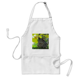 Butterfly on Yellow Orchid Adult Apron