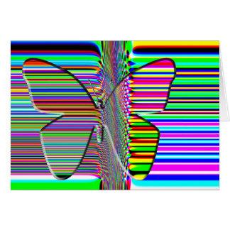Butterfly OP ART card