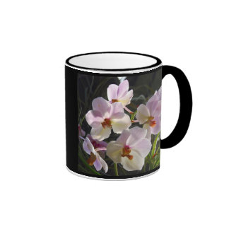 Butterfly Orchids - pink Ringer Coffee Mug