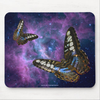 Butterfly & Outer Space Insect-lovers Astronomy Mousepad