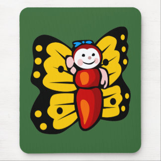 Butterfly pad mouse pad