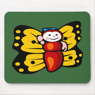 Butterfly pad mouse pads
