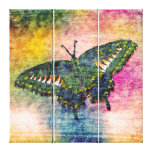 Butterfly Painting Art Monet Stretched Canvas Print