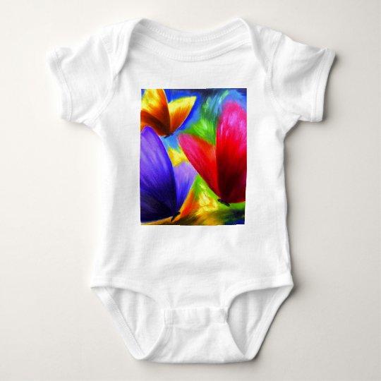 Butterfly Painting Art - Multi Baby Bodysuit