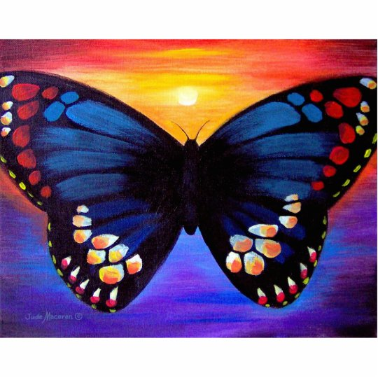Butterfly Painting Art - Multi Cutout
