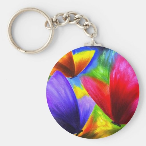 Butterfly Painting Art - Multi Key Chain
