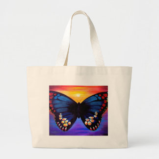 Butterfly Painting Art - Multi Large Tote Bag