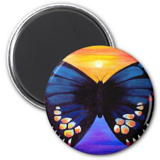 Butterfly Painting Art - Multi Magnet