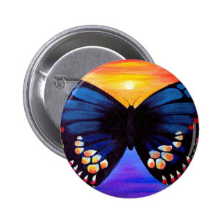 Butterfly Painting Art - Multi Pinback Button