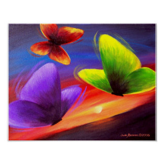 Butterfly Painting Art - Multi Poster