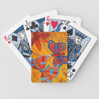 Butterfly Painting Bicycle Playing Cards