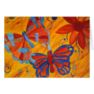 Butterfly Painting Card