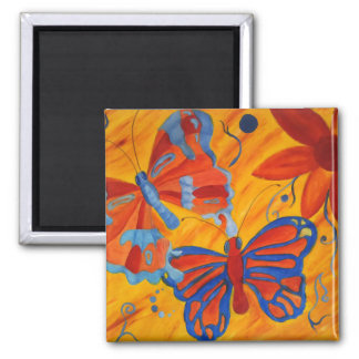 Butterfly Painting Fridge Magnet
