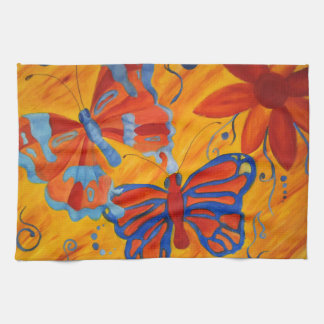 Butterfly Painting Hand Towels