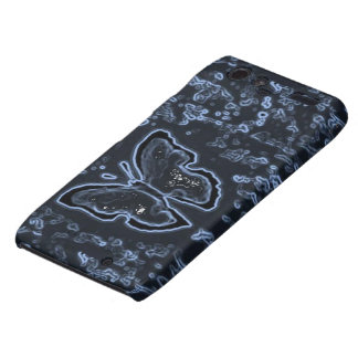 Butterfly Painting Negative Motorola Droid RAZR Cover