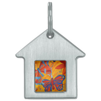 Butterfly Painting Pet Name Tags