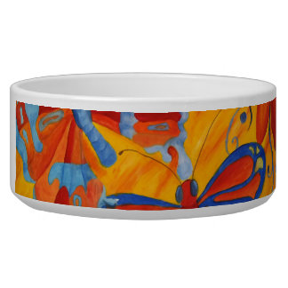 Butterfly Painting Pet Water Bowls
