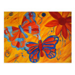 Butterfly Painting Postcard