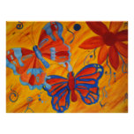 Butterfly Painting Posters