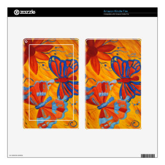 Butterfly Painting Kindle Fire Skin