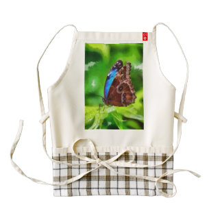 Butterfly painting zazzle HEART apron