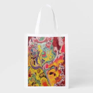 Butterfly Paisley Abstract Grocery Bag