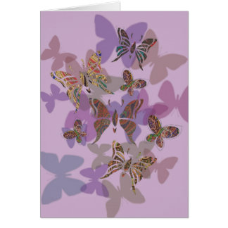 Butterfly Paisley Card